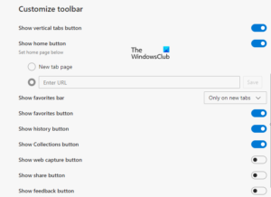 How to customize the Toolbar in Microsoft Edge