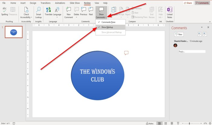 How to add Comments in PowerPoint