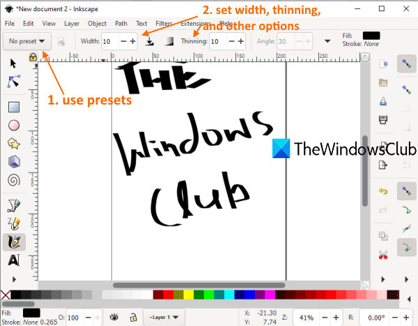 Best free Calligraphy software for Windows 10