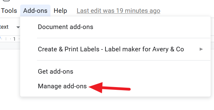 Manage Add-ons on Google Docs