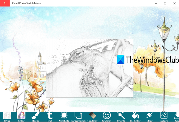 Photo to Sketch software for Windows 10 PC
