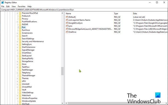 Remove invalid entries from Startup tab in Task Manager via Registry