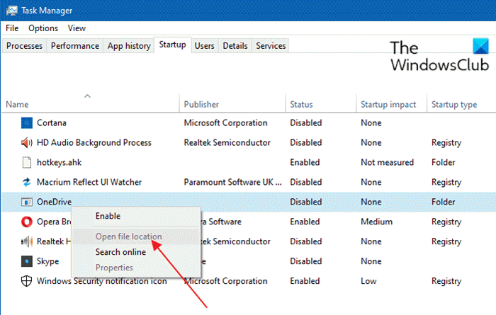 Remove dead Startup programs or Invalid entries from Task Manager