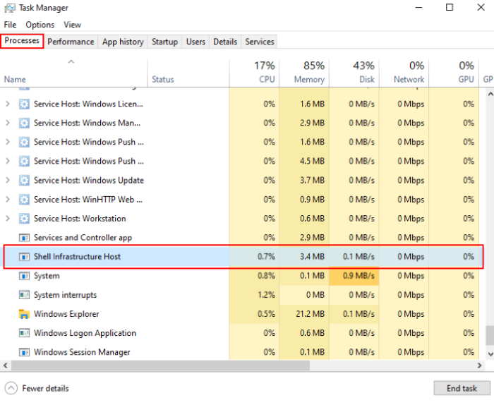 Sihost.exe Process in Windows 10_1