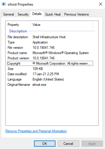 Sihost.exe Process in Windows 10_3