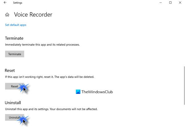 Voice Recorder couldn't save this recording