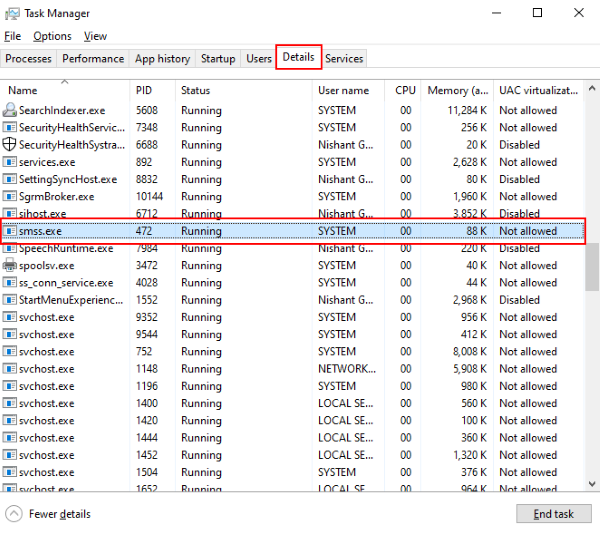 What is SMSS.exe process in Windows 10