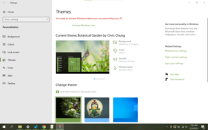 How to change theme in Windows 10 without activation