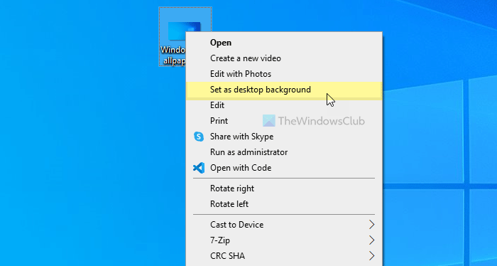 How to change wallpaper without activating Windows 10