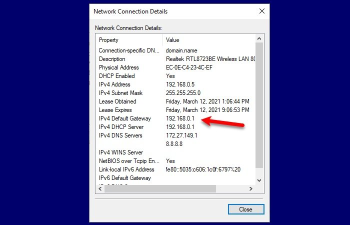 How to Find Router IP address on Windows 10