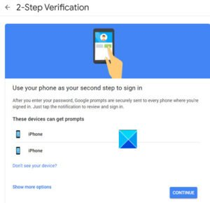 Two Step Verification to your Google Account