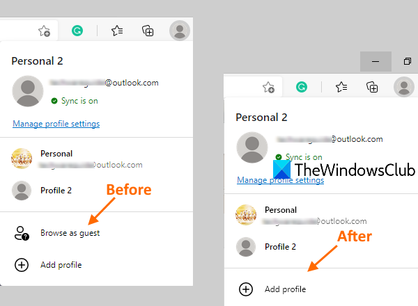 enable or disable guest mode in microsoft edge