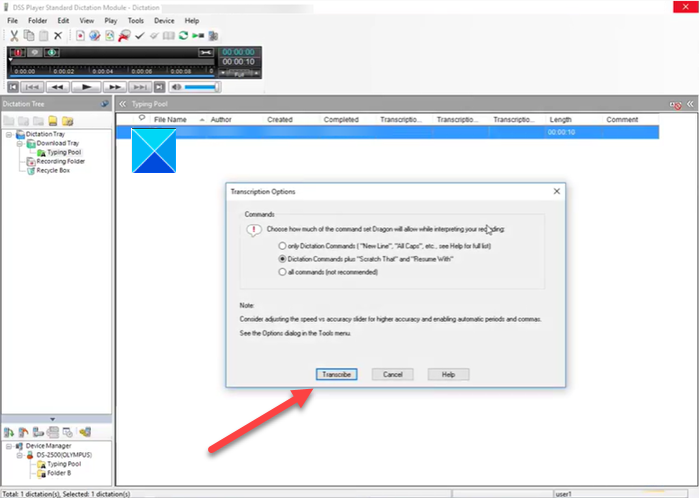 Convert a DSS file or Play it on Windows 10