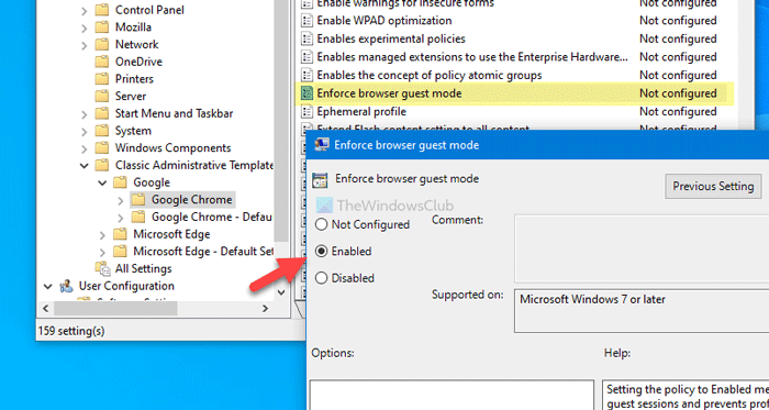 How to force Chrome users to open Guest Mode using Registry and Group Policy