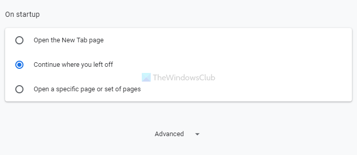 How to restore Last session or Chrome tabs after a crash
