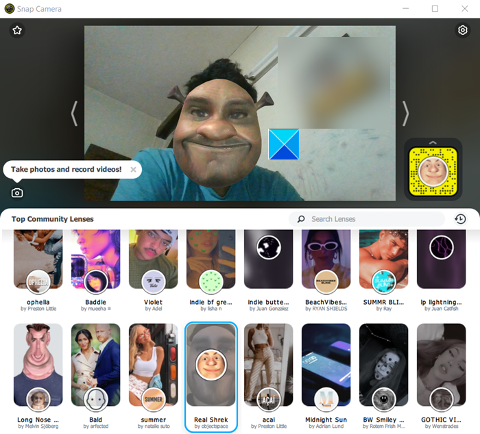 How to use Snapchat filters in Microsoft Teams