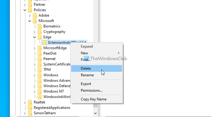 Unable to enable, disable Edge extensions, Your admin has blocked
