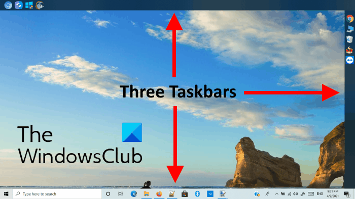 Add multiple taskbars Windows 10