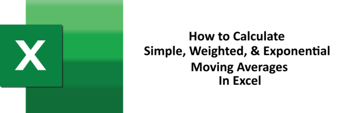 Calculate moving average Excel