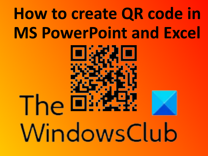 Create QR code in PowerPoint and Excel