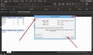 How to use the DGET function in Excel