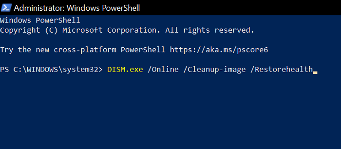 DISM Scan PowerShell