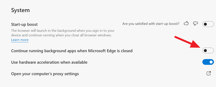 Disable Background Apps on Edge
