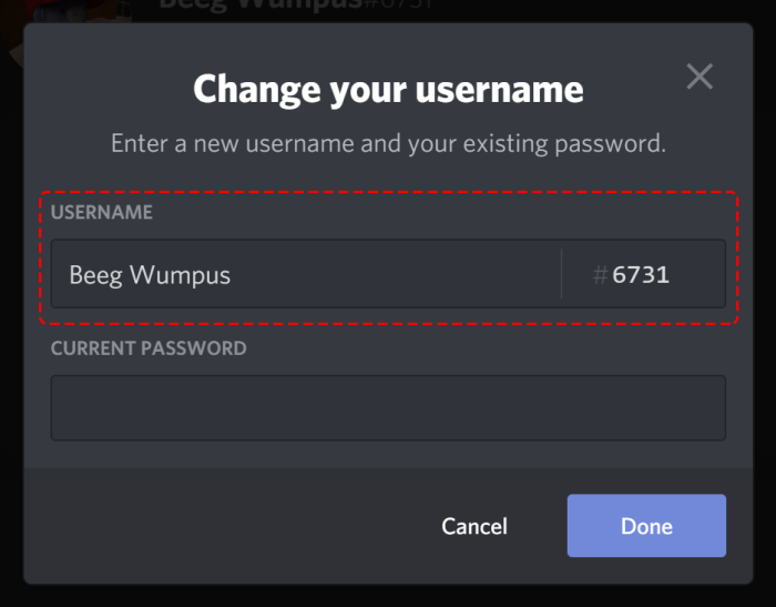 change Discord Username and Avatar