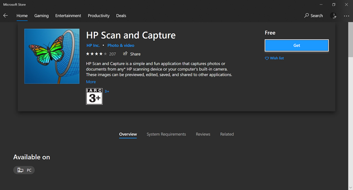 HP Scan and Capture on Microsoft Store