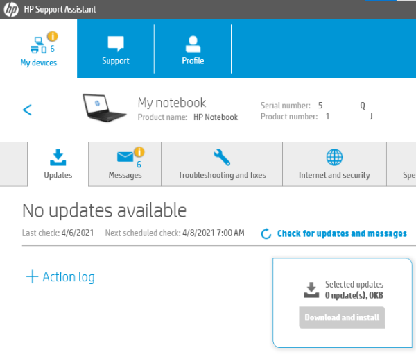 HP Support Assistant Update Drivers 4