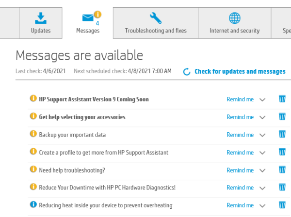 HP Support Assistant Update Drivers 5