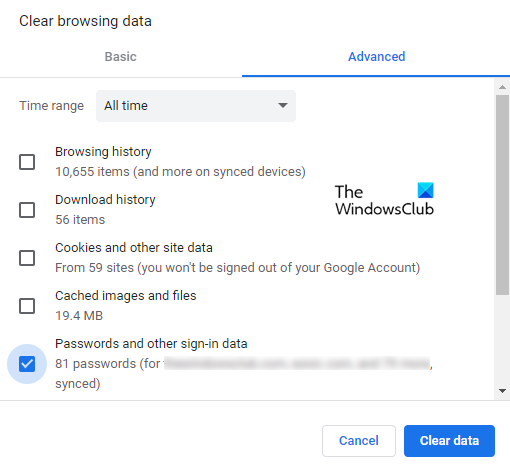 Remove All Saved Passwords at once in Chrome, Firefox and Edge browser