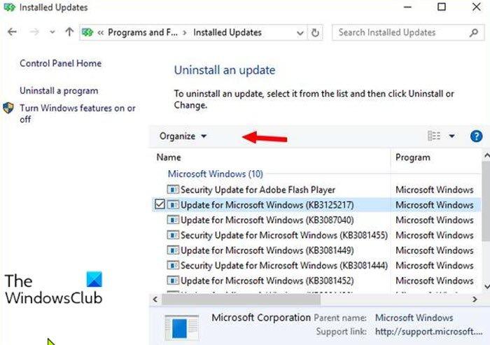 Uninstall Windows Updates without Uninstall option