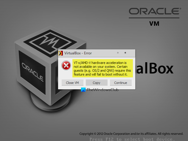VT-XAMD-V hardware acceleration is not available