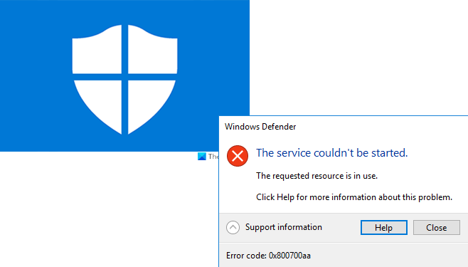 Windows Defender 0x800700aa