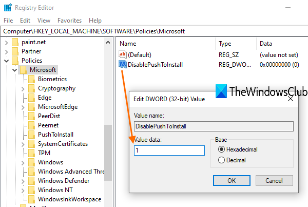 stop Remote Installation of Apps on Windows 10