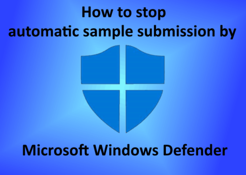 automatic sample submission Windows Defender