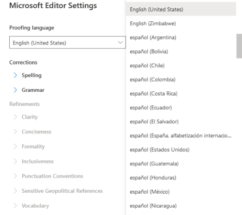 How to change Spell Check language in Outlook