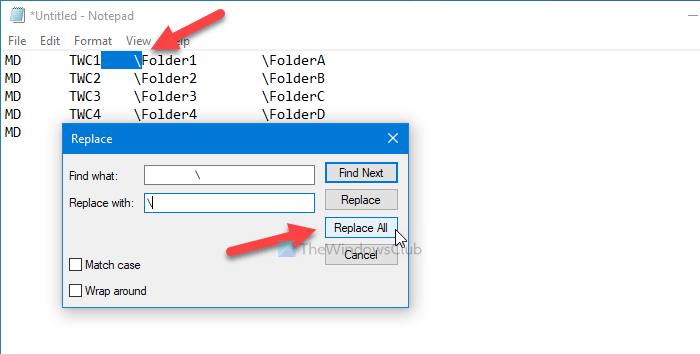 How to create multiple folders at once from Excel