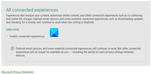 Disable Connected Experiences