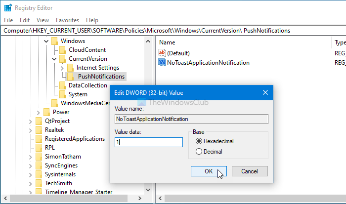How to enable or disable notifications from apps and other senders using Windows Settings