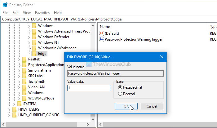 How to enable or disable password reuse warning in Edge