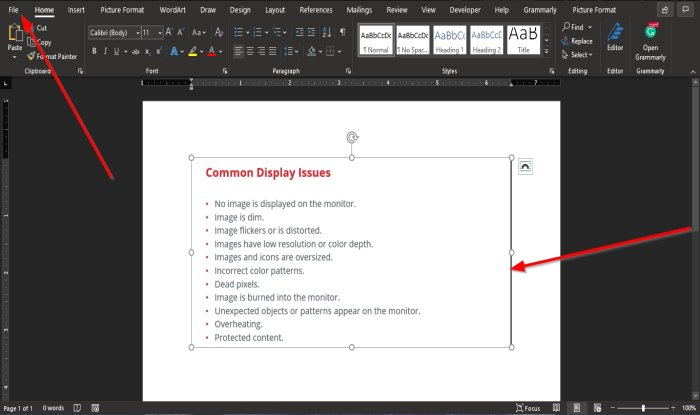 How to extract Text from an Image in Microsoft Word