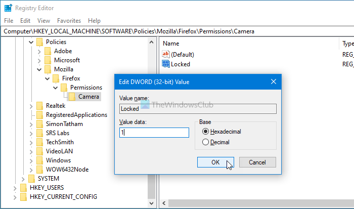 How to prevent users from changing Camera, Location, Microphone preferences in Firefox