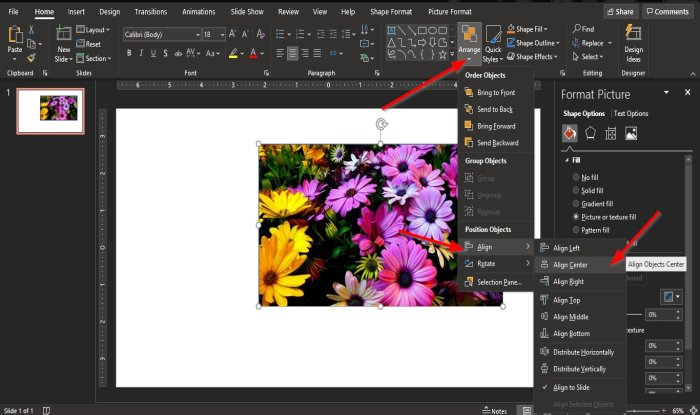 make an animated picture frame in PowerPoint