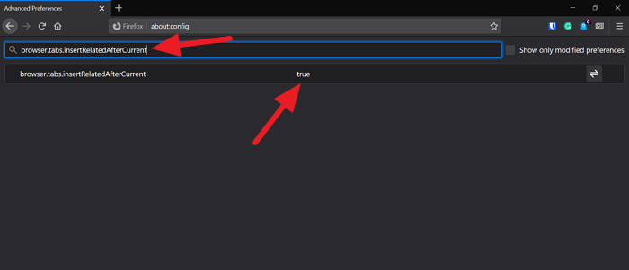 Disable a Preference in Firefox