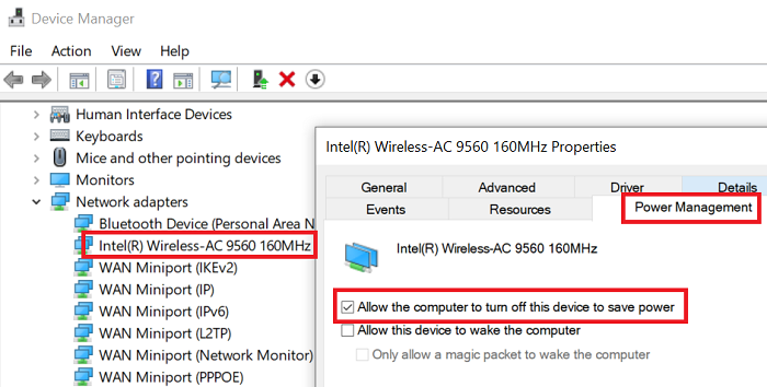 Ethernet keeps disconnecting in Windows 10