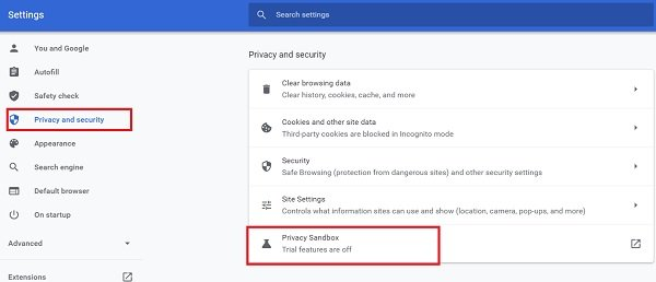 opt-out of Google FLoC (Privacy Sandbox) in Chrome