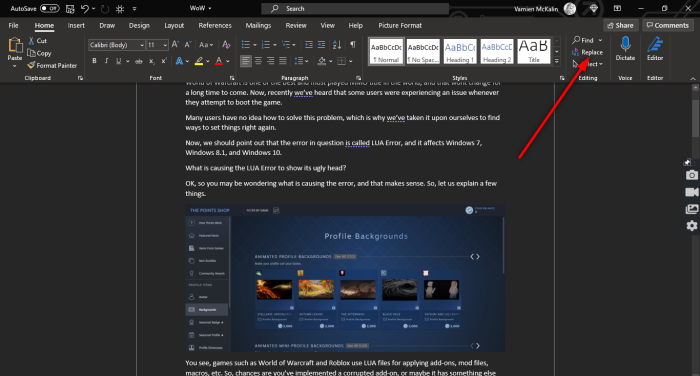 How to remove all Images in Word document