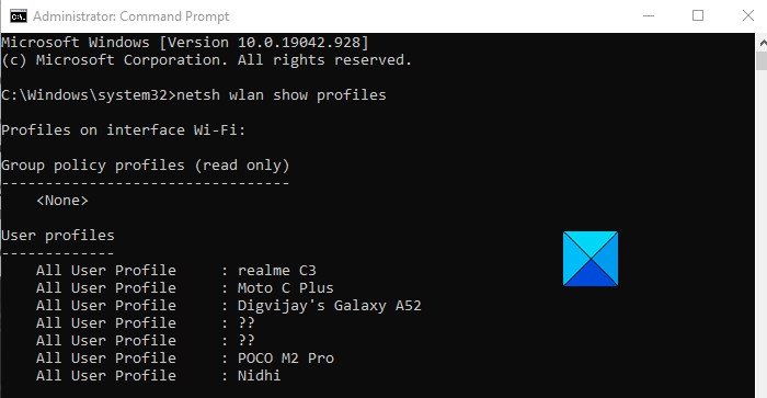 How to View Wi-Fi network Profiles Stored on Windows 10